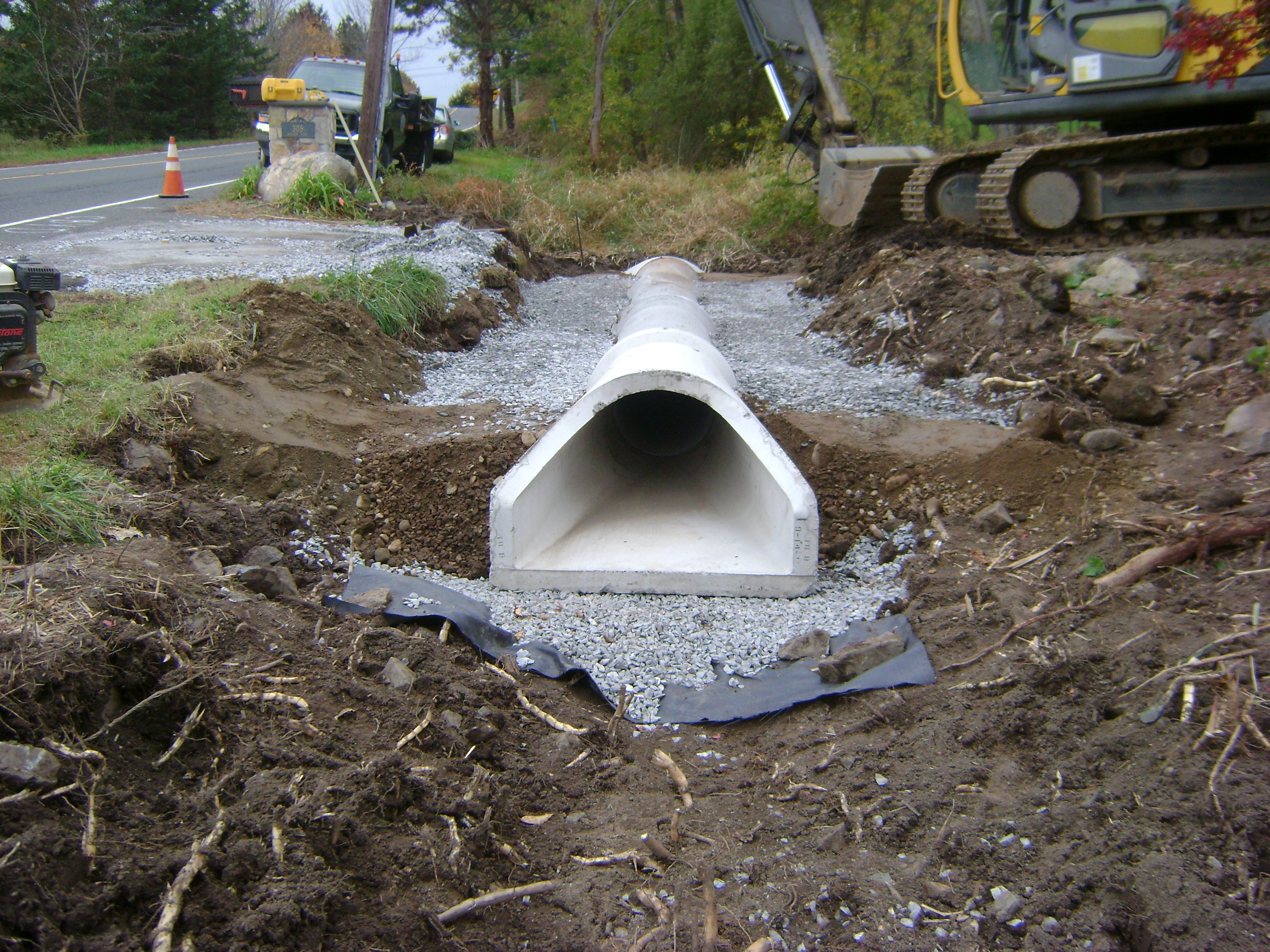 Drainage utilities versatile excavating service of ct for Outside drainage system